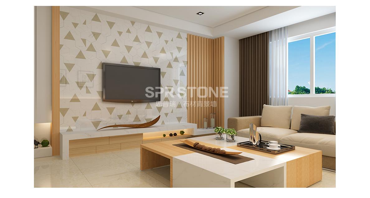 思普瑞石材背景墙 SPR-043