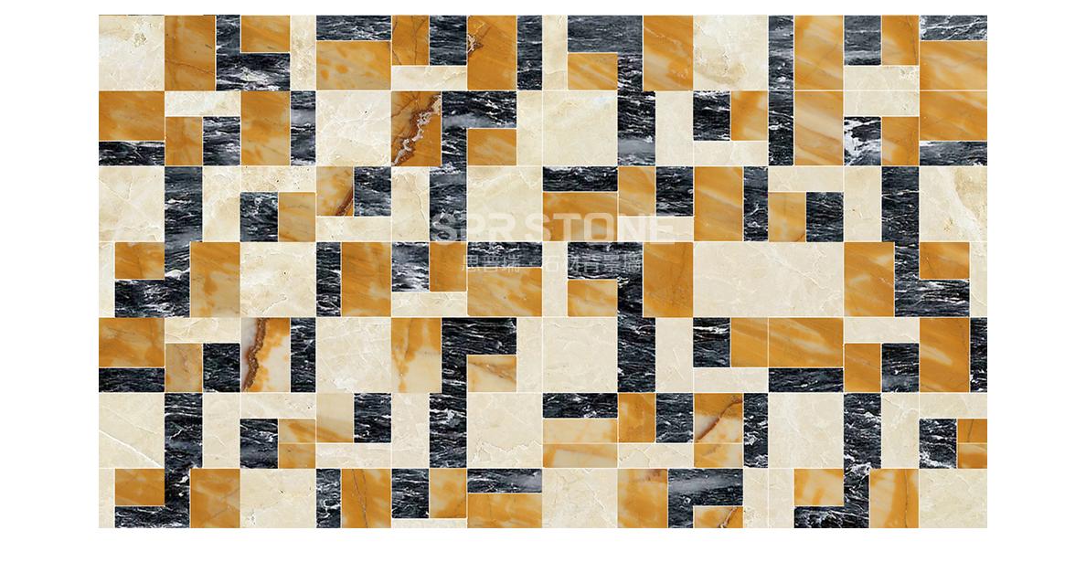 思普瑞石材背景墙 SPR-067